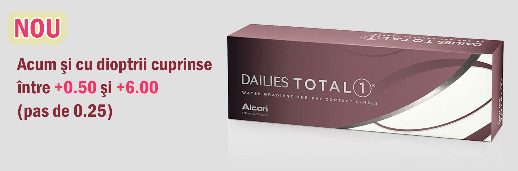 DAILIES TOTAL1® cu dioptrii pe plus