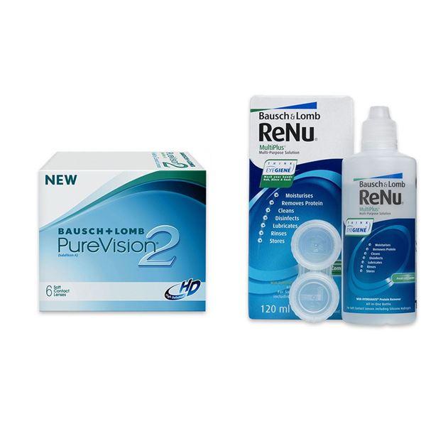Imagine PureVision®2 HD (6buc.) + ReNu MultiPlus® (120ml)