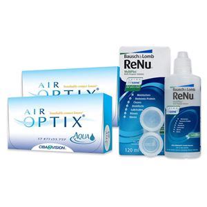 Imagine AIR OPTIX® AQUA (2x6buc.) + ReNu MultiPlus® (120ml)