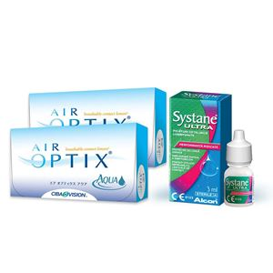 Imagine AIR OPTIX® AQUA (2x6buc.) + Systane ULTRA® (10ml)