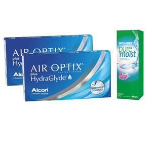 Imagine AIR OPTIX® plus HydraGlyde® + OPTI-FREE® PureMoist®