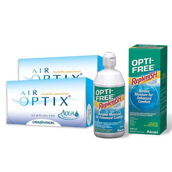 Imagine AIR OPTIX® AQUA (2x6buc.) + Optifree® (60ml)