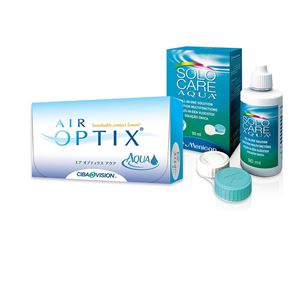Imagine AIR OPTIX® AQUA (6buc.) + SoloCare® (90ml)