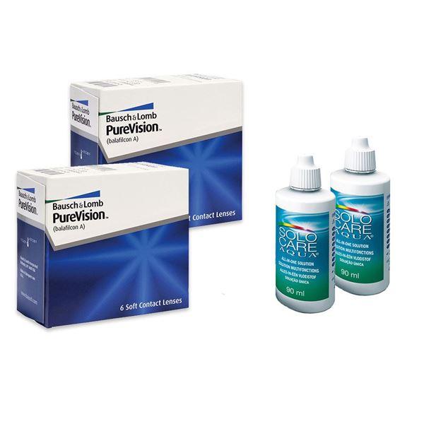 Imagine PureVision® (2x6buc.) + SoloCare® (2x90ml)